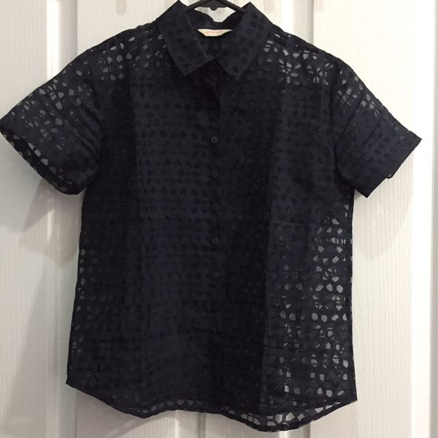 Gorman navy button up shirt size 6