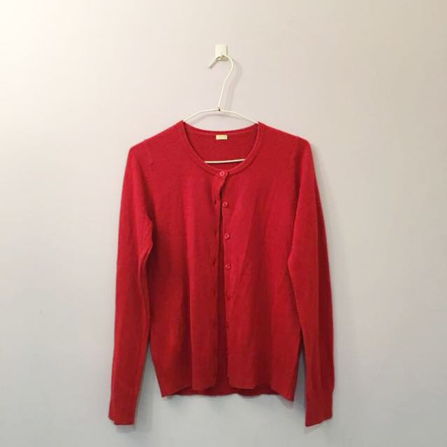 GU 紅色針織小外套