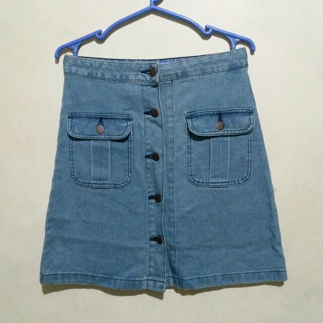 Gu Jeans A-Line Skirt