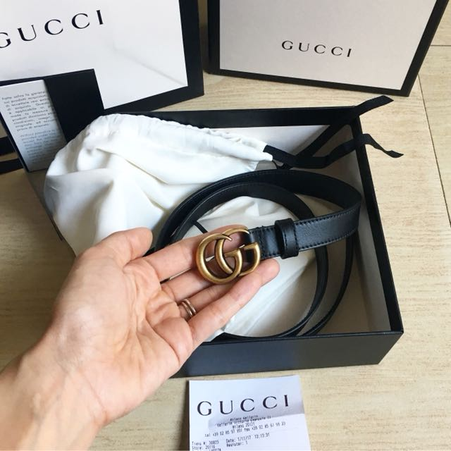 1e540d86b29 GUCCI MARMONT BELT w store receipt from EUROPE