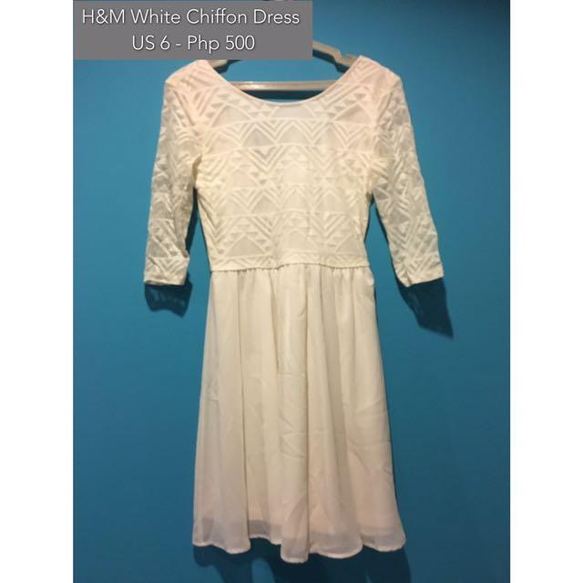 H&M Geometric Chiffon Dress