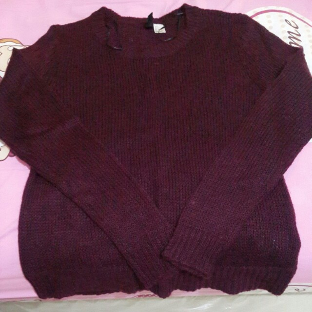 [H&M] Maroon Sweater