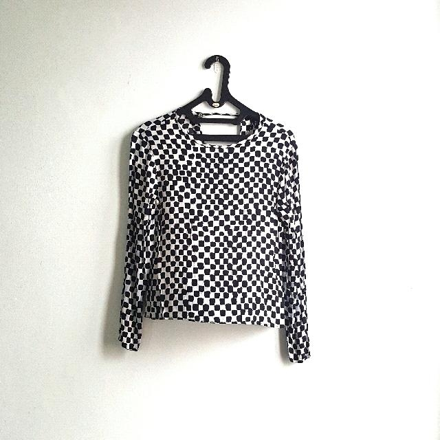 H&M Square Pattern Top