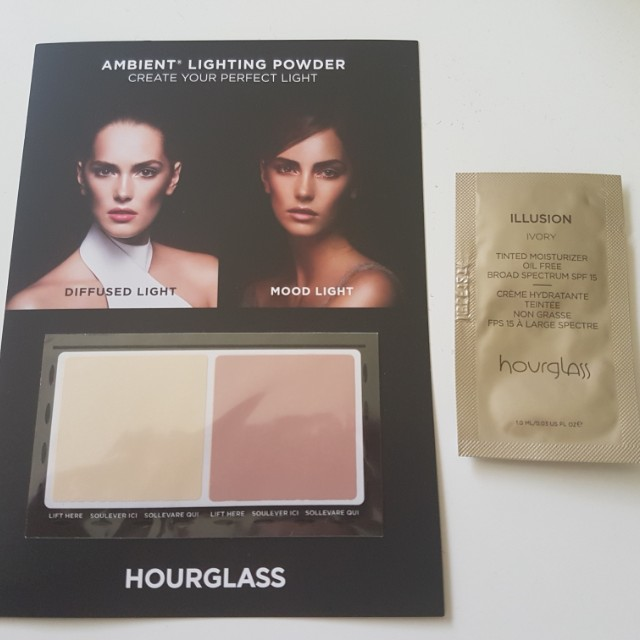 Hourglass Ambient Lightning Powder and Illusion Tinted Moisturiser Samples *Free shipping*