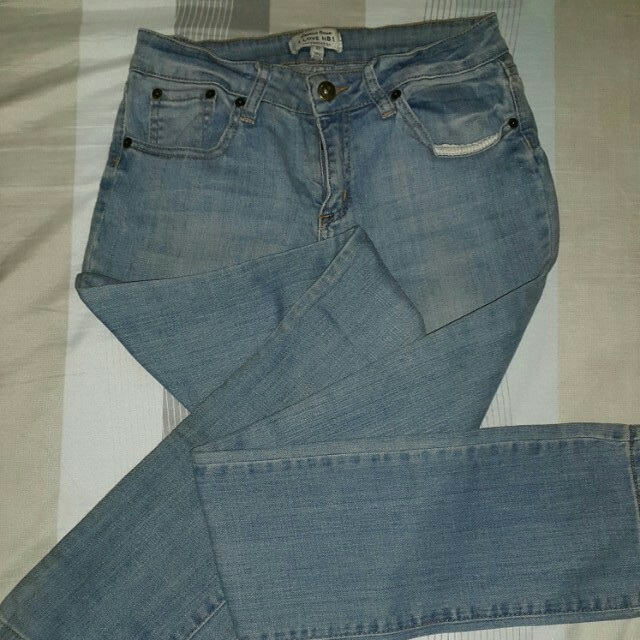 """""""I LOVE H81"""" jeans from F21"""