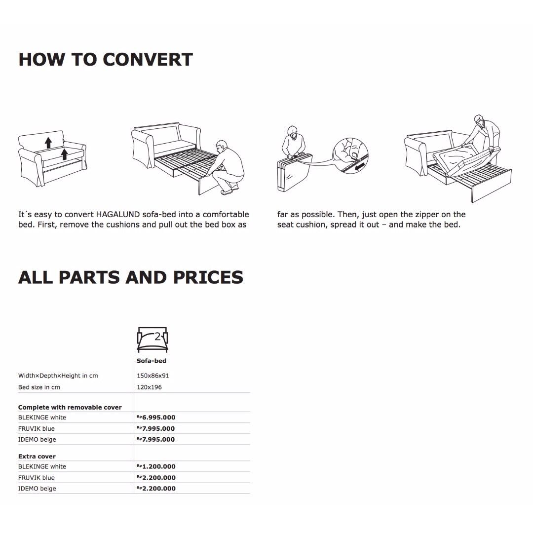 Ikea Hagalund Sofa Bed Furniture