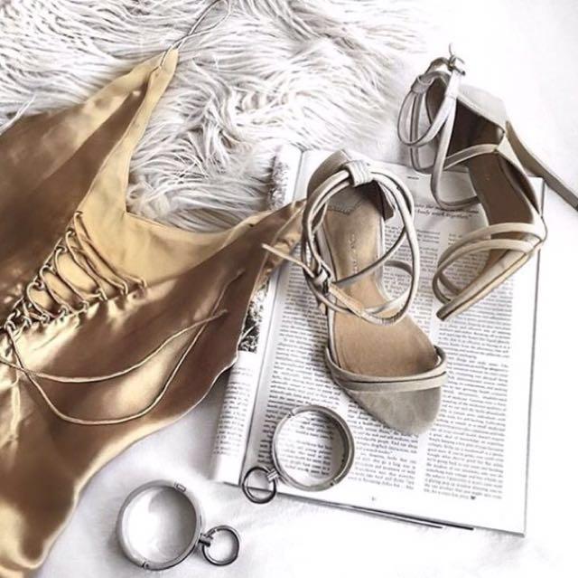 Isabelle Quinn Gold Silk Dress