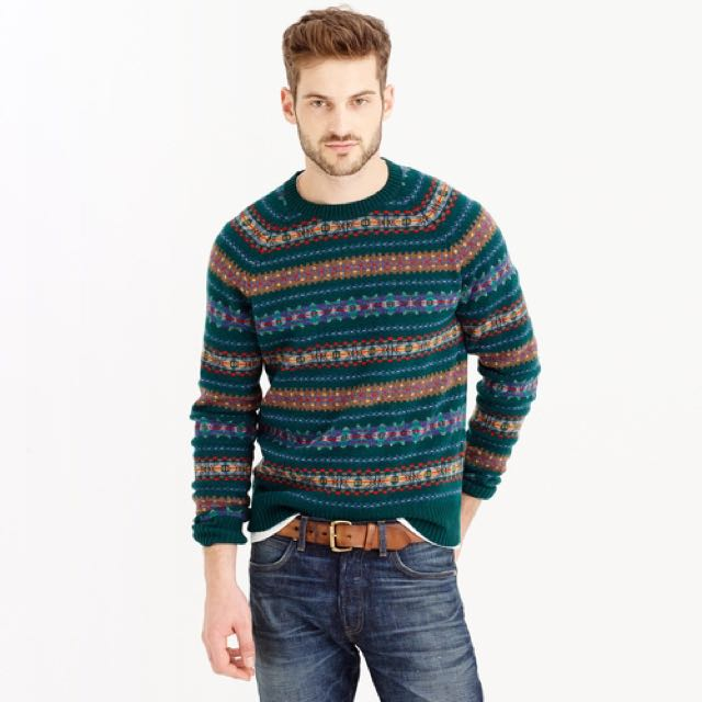 JCrew Fair Isle Sweater M