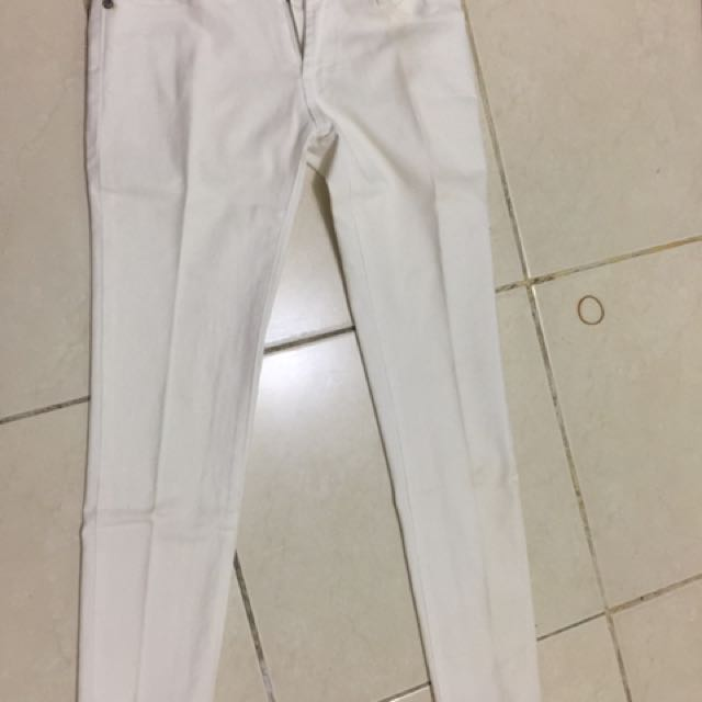 Jeans White Logo