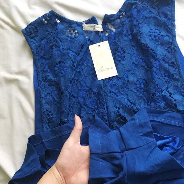 KASHIECA BLUE ROMPER LACE BACK (now 700php only from 998php)