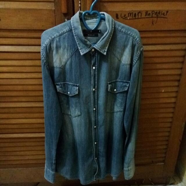 Kemeja Jeans The Executive Size M Fit To L
