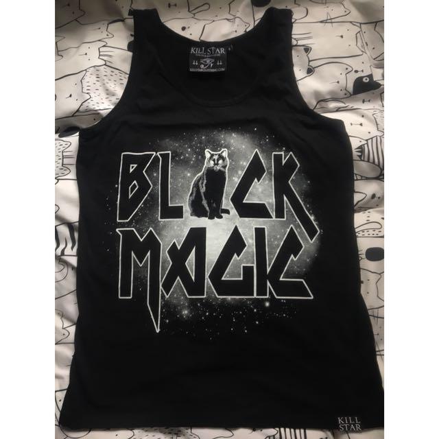 Killstar Clothing Black Magic cat singlet