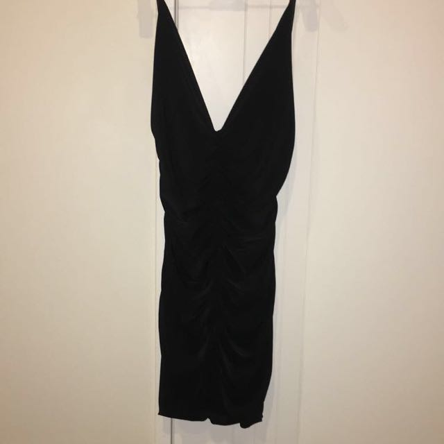 Kim K inspired black tight dress- size small