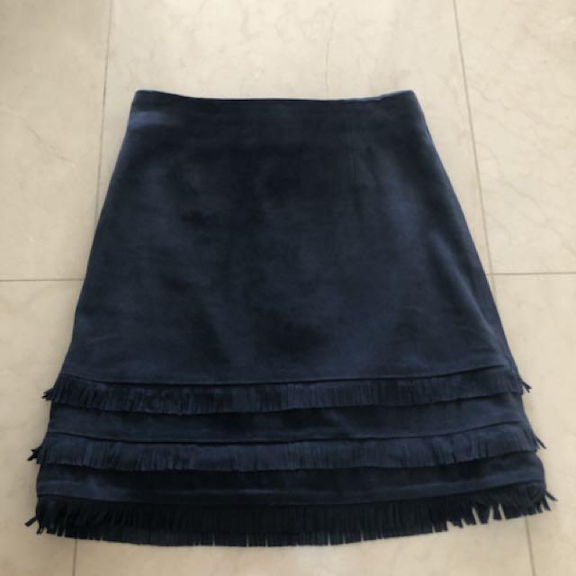 Kookai Leather Suede Skirt