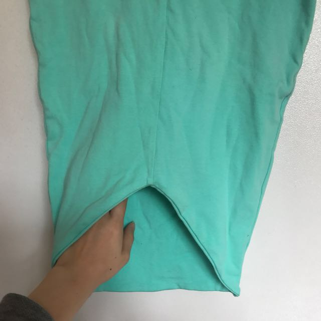 KOOKAI MINT GREEN BODYCON MIDI SKIRT