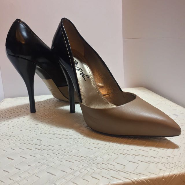 Lanvin shoes, two tone patent leather size 37