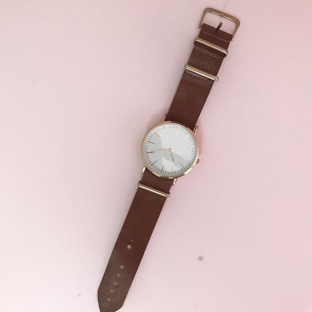 Leather watch (brown)
