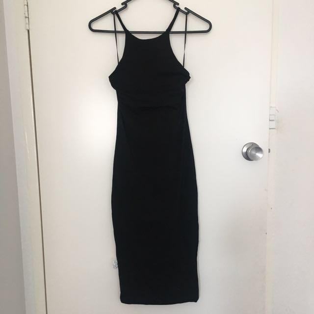 Luvalot black bodycon dress size 8