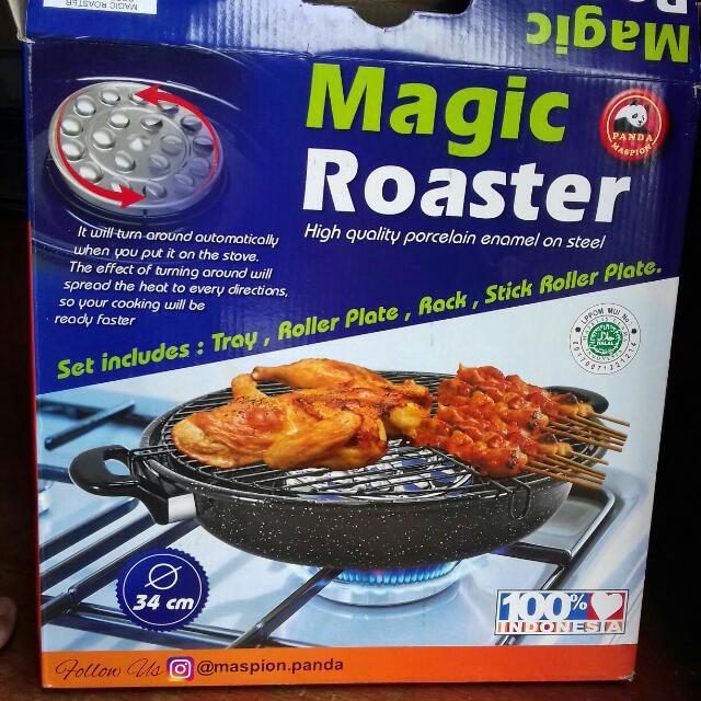 Maspion Magic Roaster, Panggangan,Grill Enamel Steel