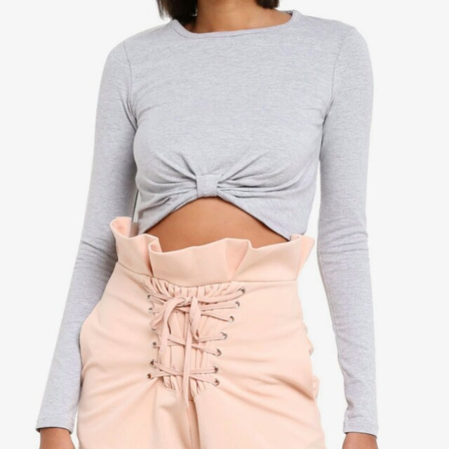 Missguided crop long sleeves