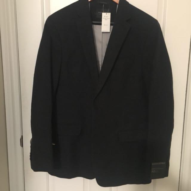 NEW 42 long blazer, charcoal grey from banana republic