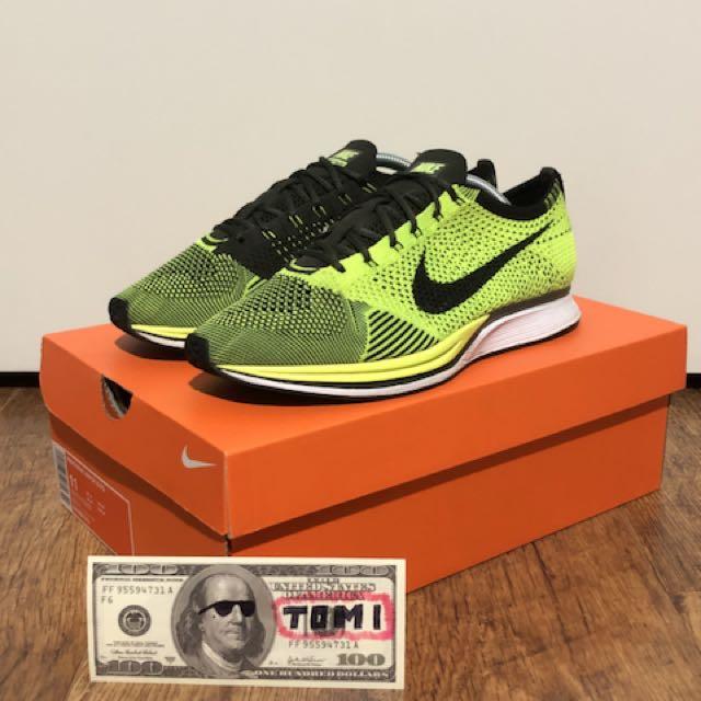 Nike Flyknit Racer OG Volt