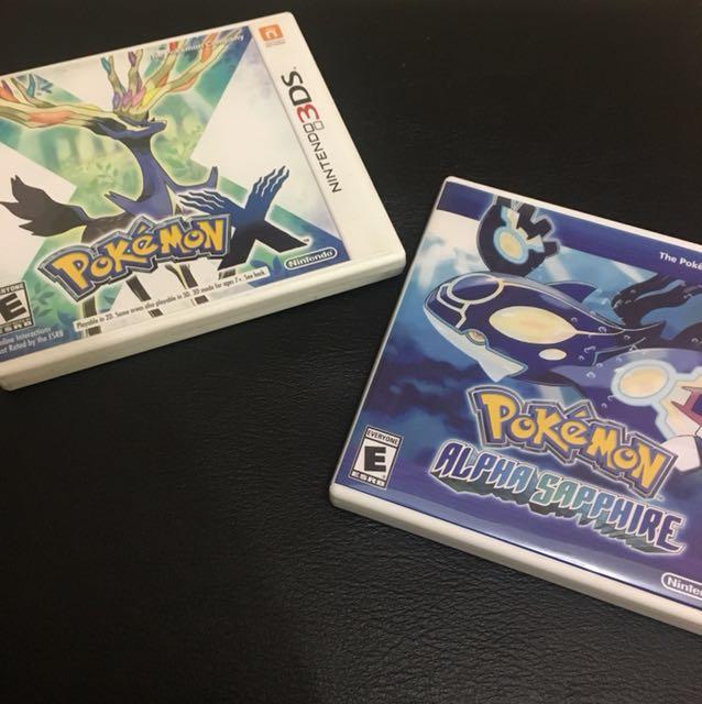 Nintendo DS 3DS - Pokemon Black 2, Pokemon X, Pokemon Alpha Sapphire