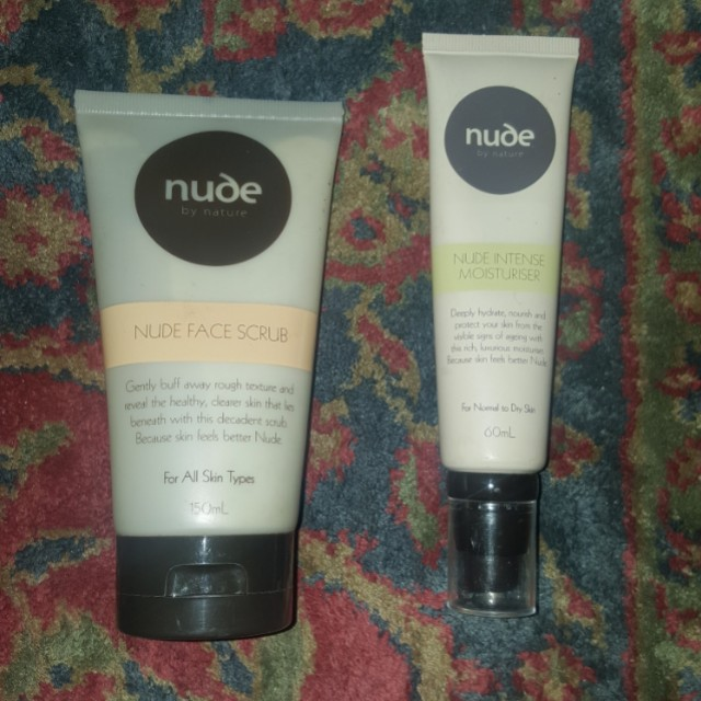 Nude by Nature Scrub and Moisturiser