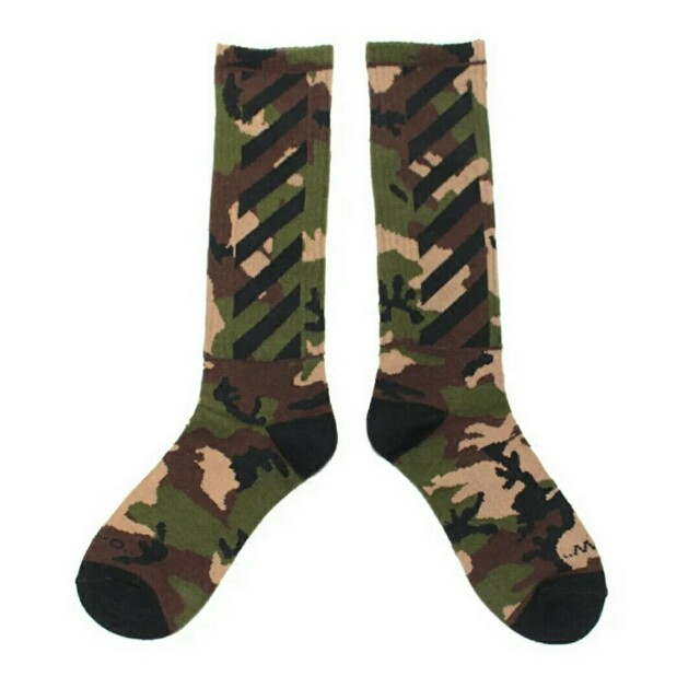 889aaa651 Off white inspired jacquard camouflage long socks