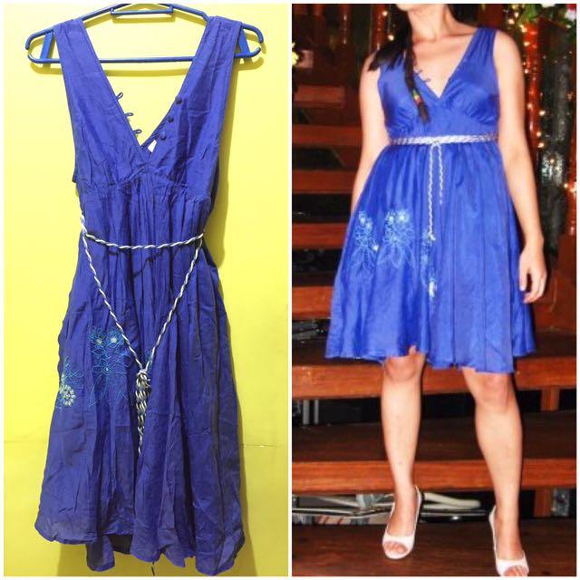 People Are People Blue Dress