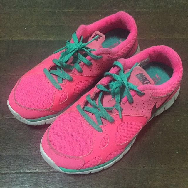 Pink & Green Nike Running Shoes