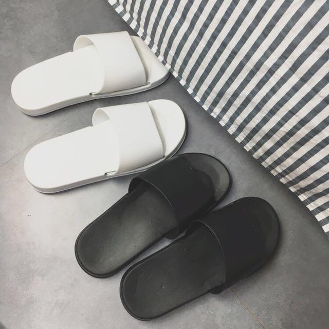PO] Ulzzang Plain Slippers, Women's