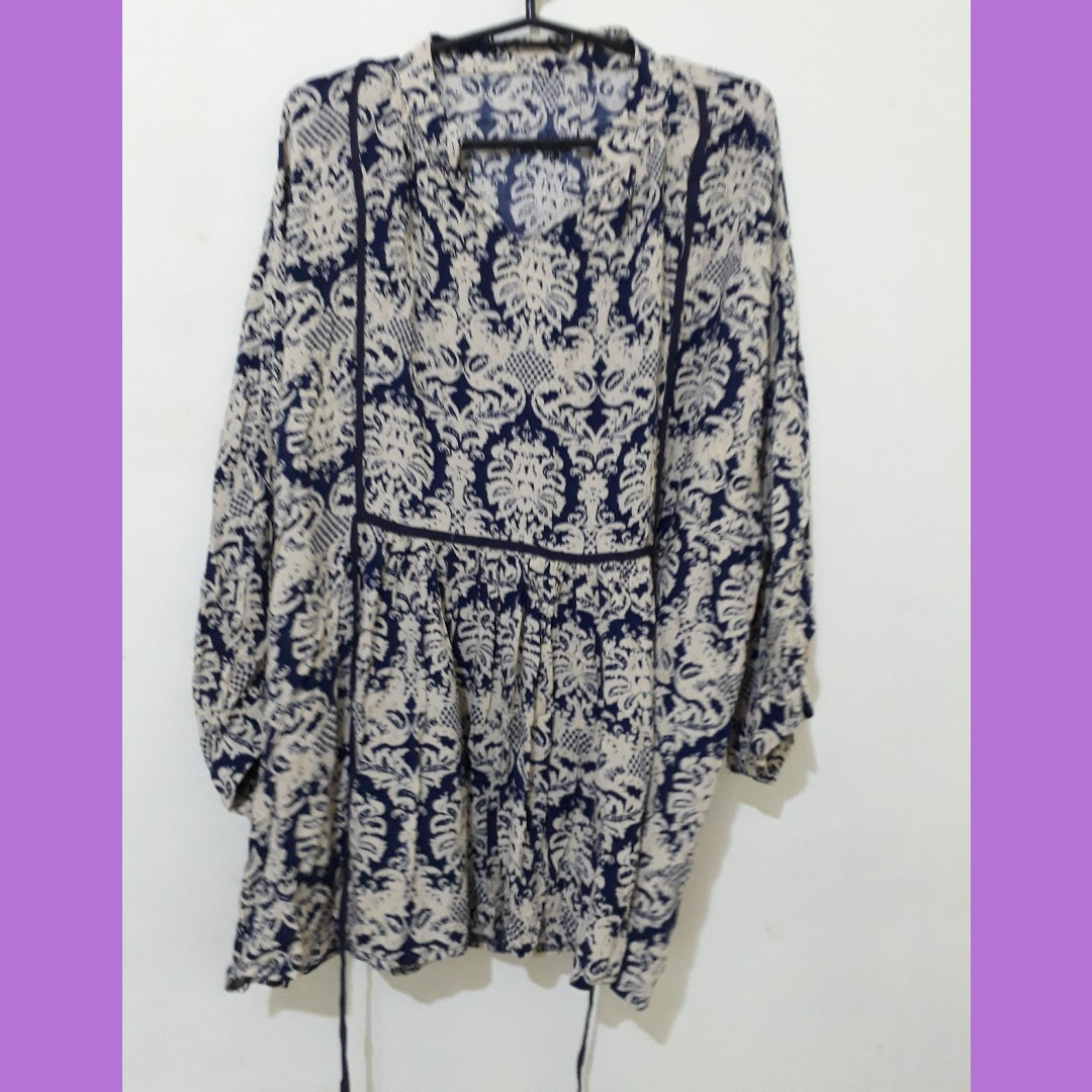 Printed loose blouse