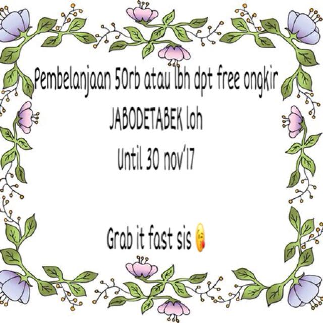 Promo free ongkir 😘