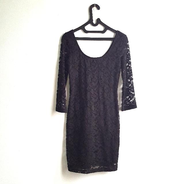 Pull and Bear Black Dress