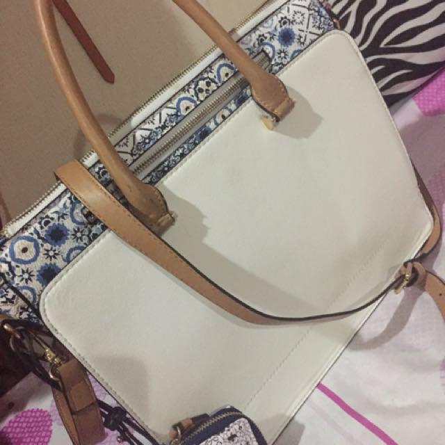 REPRICED!! Parfois White Handbag