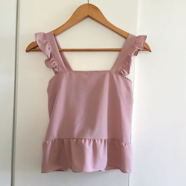 Ruffle Top Blush