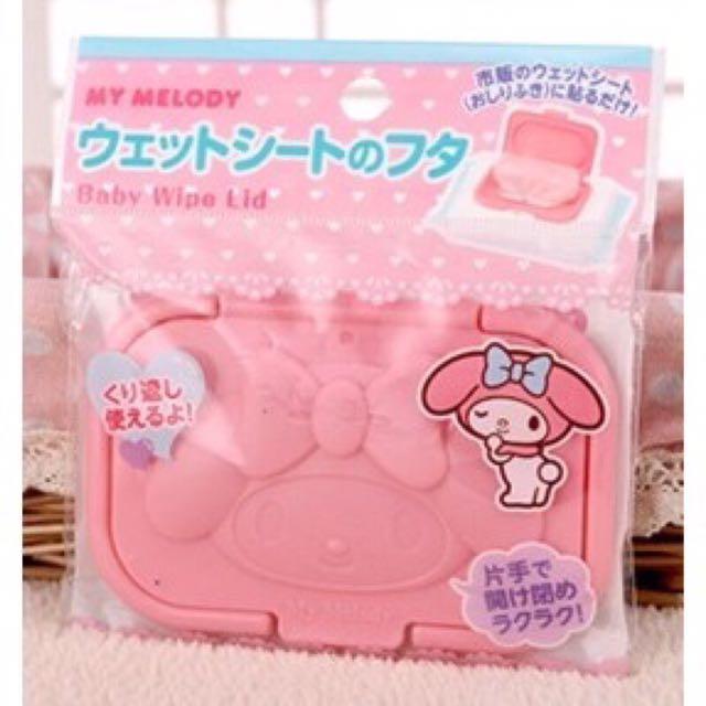 日本帶回~Sanrio 三麗鷗美樂蒂 kiki&LaLa 濕紙巾專用蓋 大包裝用濕紙巾蓋 隨身攜帶包濕紙巾蓋 可重覆使用