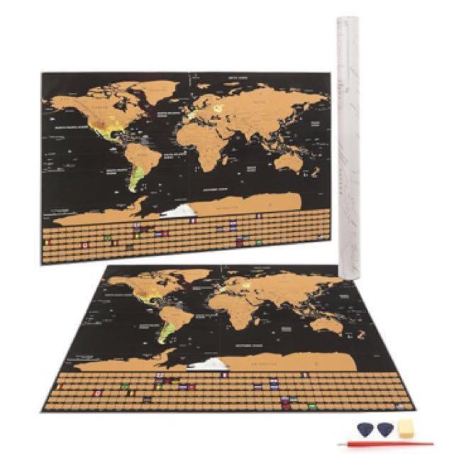 Scratch Map Scratch Off World Map Poster Newest 2018 Version By