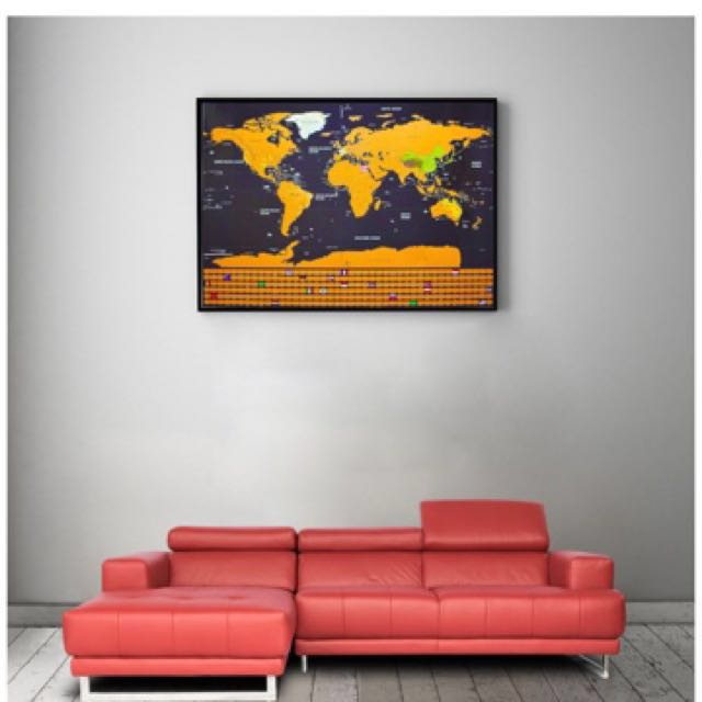 Scratch map scratch off world map poster newest 2018 version by scratch map scratch off world map poster newest 2018 version by dacho original travel tracker map print w flags us states outlined gumiabroncs Image collections