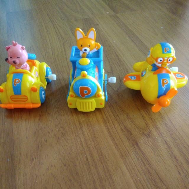 Set i - pororo winding toys