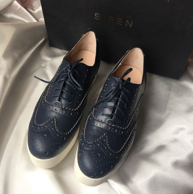 Siren Teddy Shoes (Navy Blue) - Free Shipping