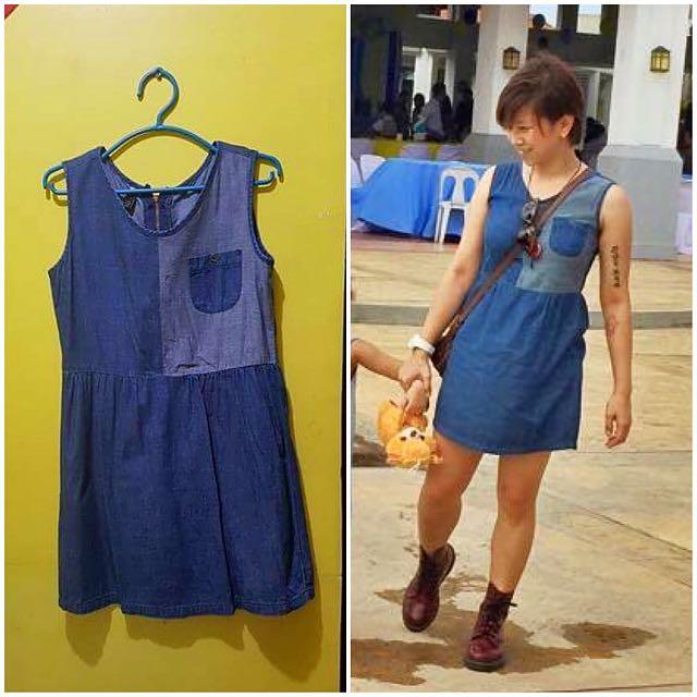SM WOMAN Denim mini dress