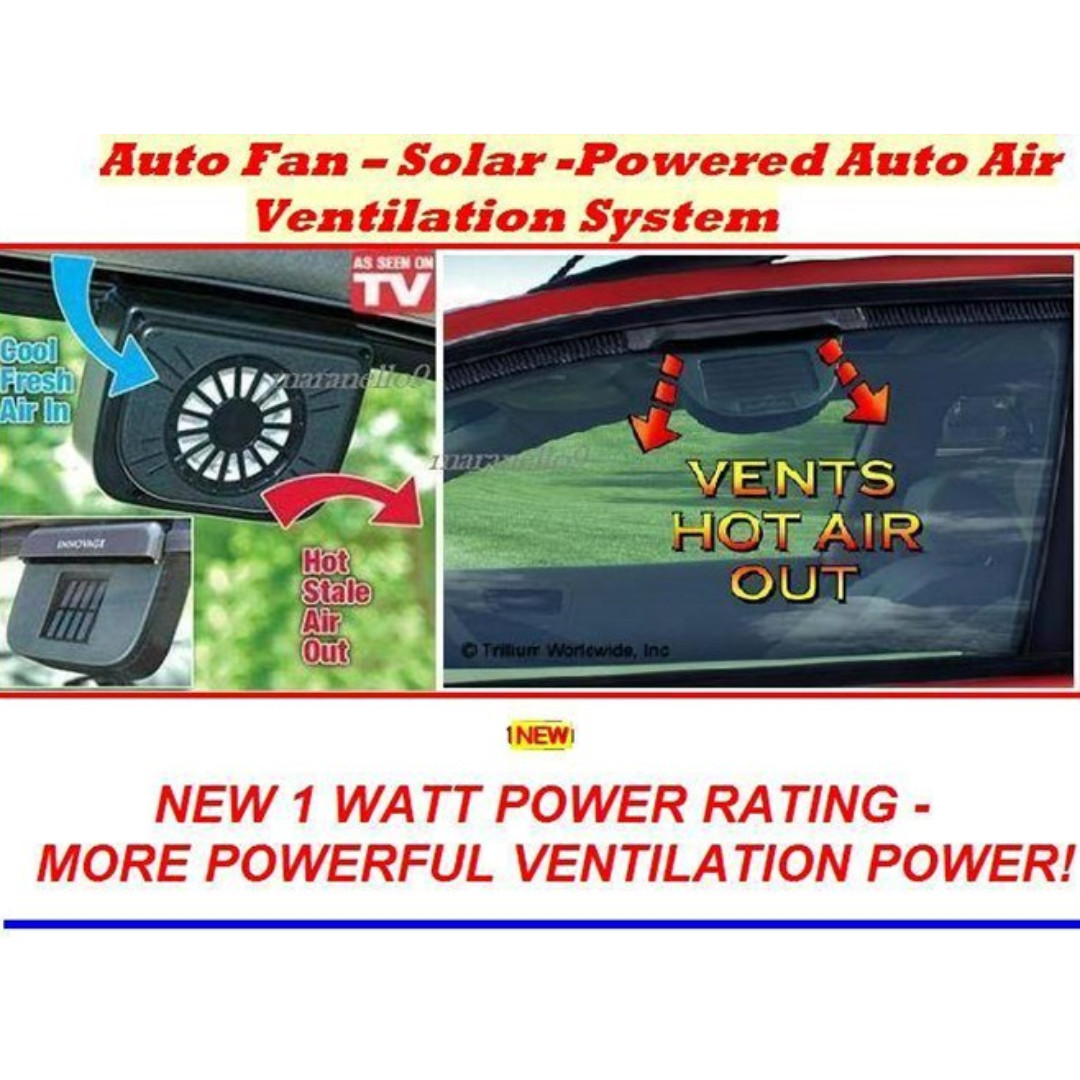 Solar Car Cooler Fan Auto Cool Ventilation System For Black Accessories On Carousell