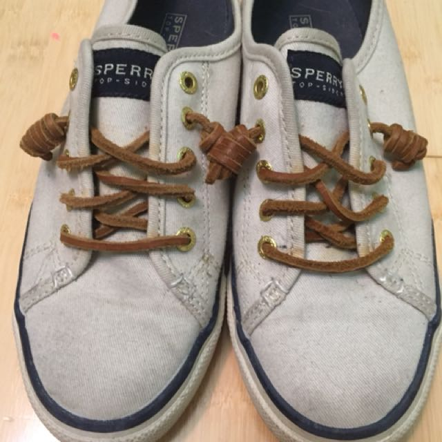 Sperry distressed sneakers size 7. Great condition. Worn 3 times