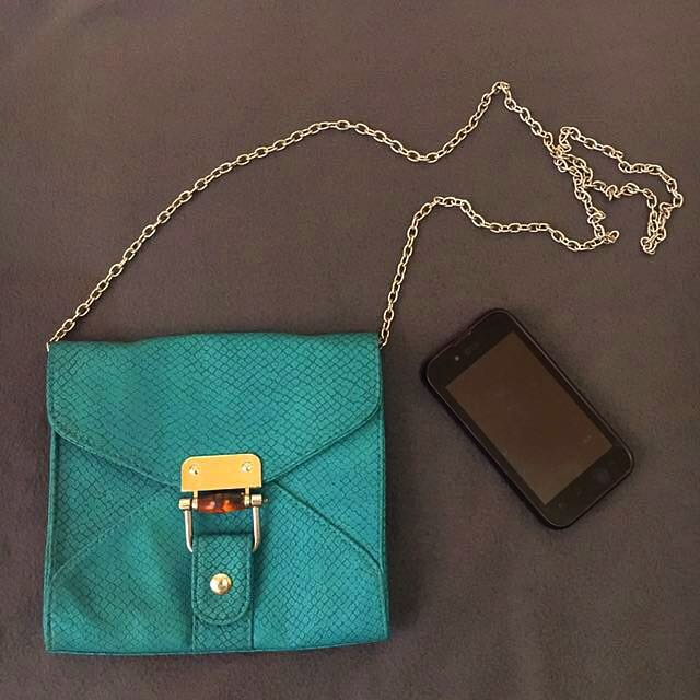 Splash Teal Color Sling Bag