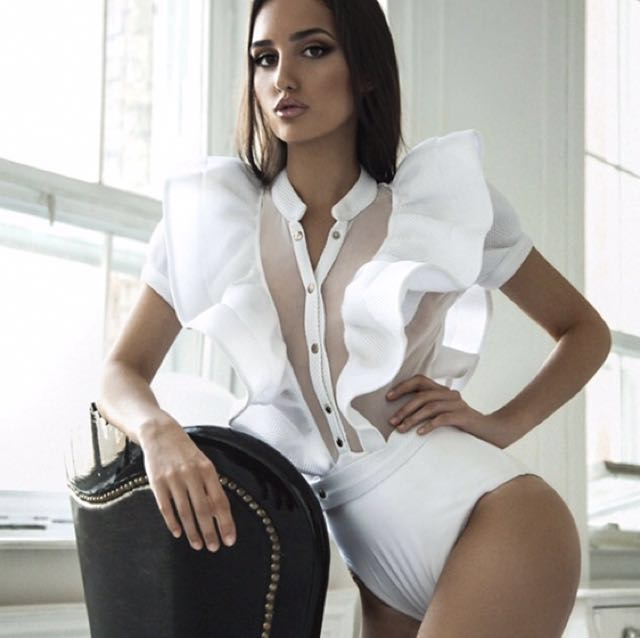 Statement white body suit