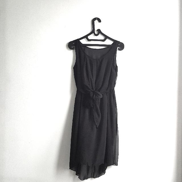 Tied Knot Little Black Dress