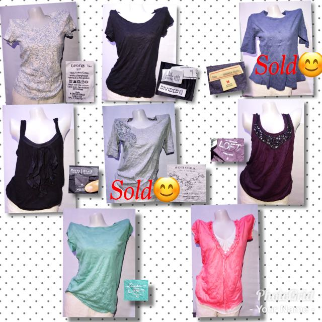 Tops 100 each or 2 for 180