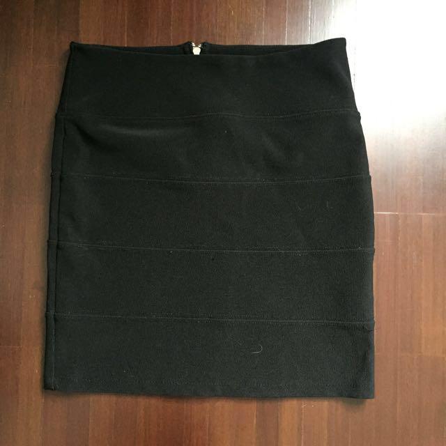 Topshop Panel Black Skirt
